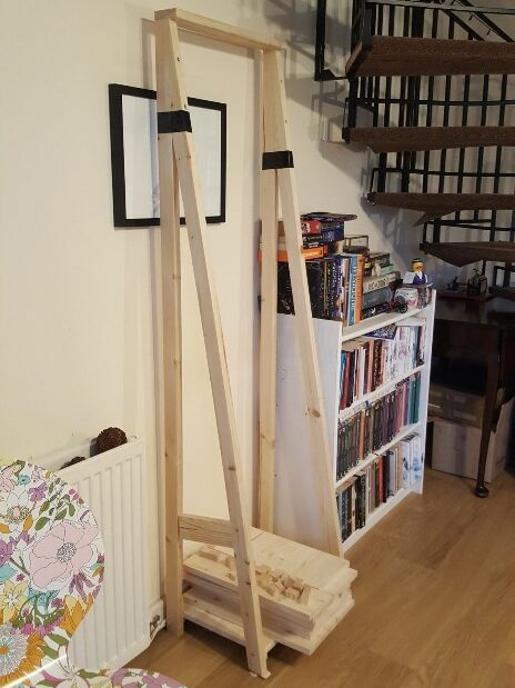 build stage 1 of the ladder shelves