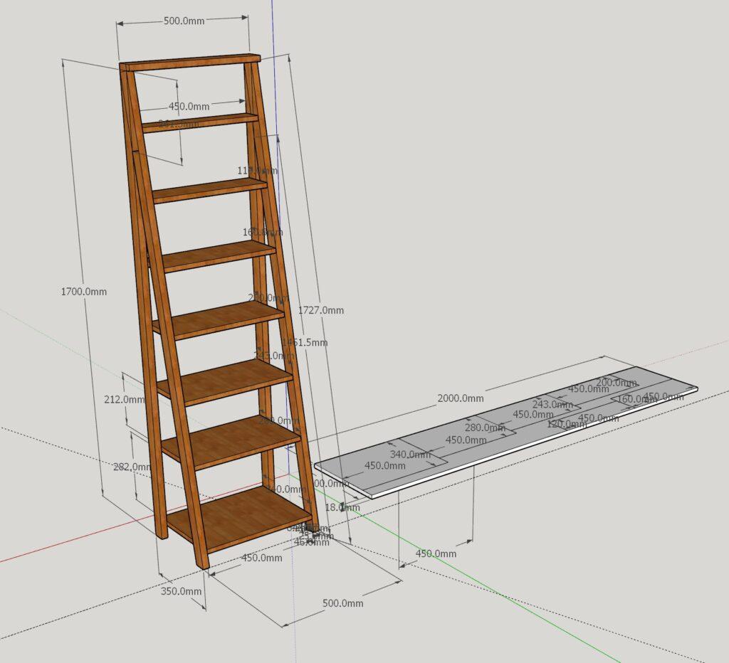 Ladder shelves design file